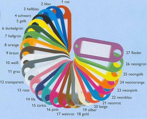 Schlüsselanhänger Lila Kunststoff Mit Loch Und S Haken Online Shop