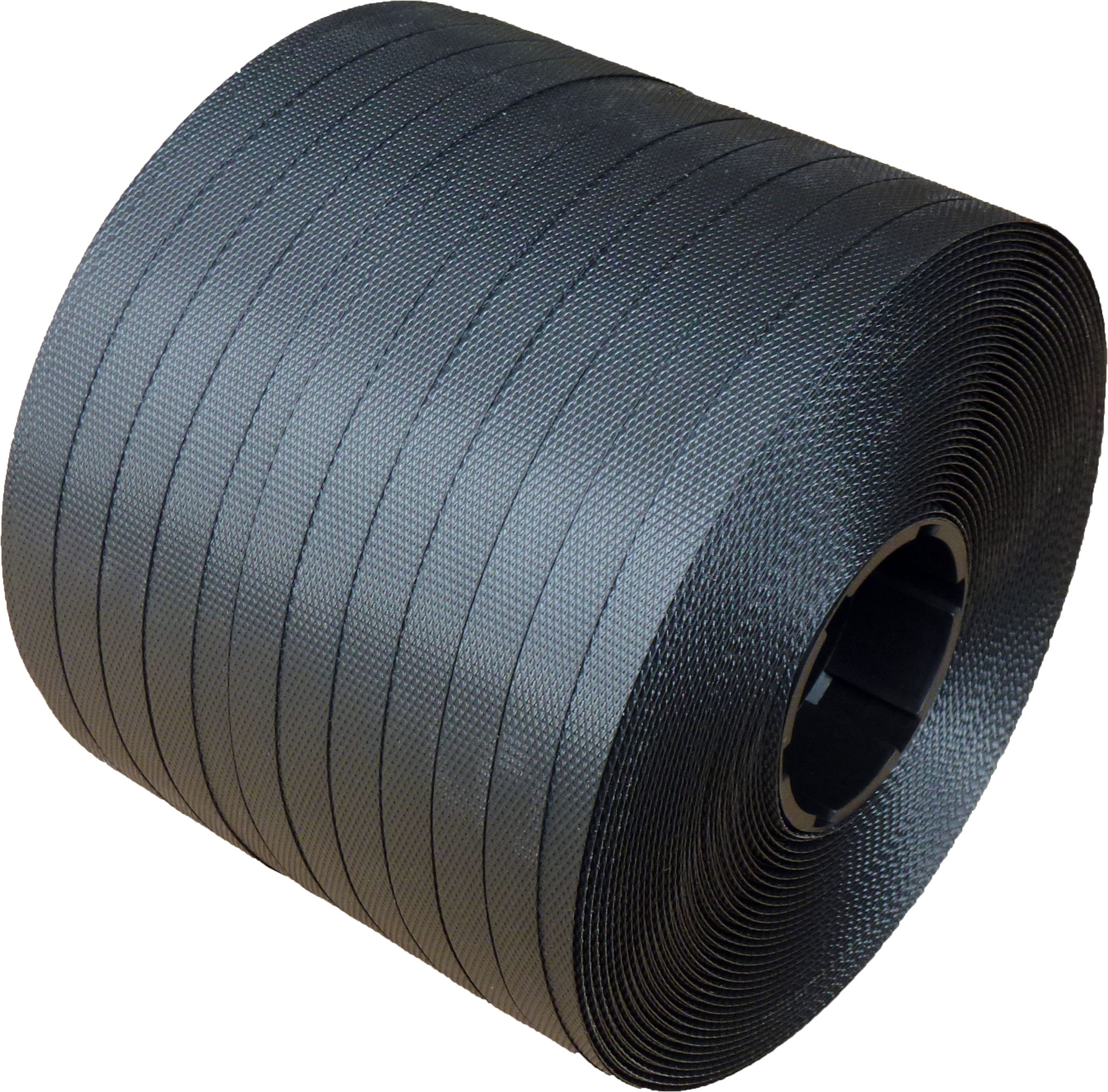 1x Umreifungsb/änder PP Kleinrollen schwarz 12mm x 600m 0,50mm St/ärke kein Kern