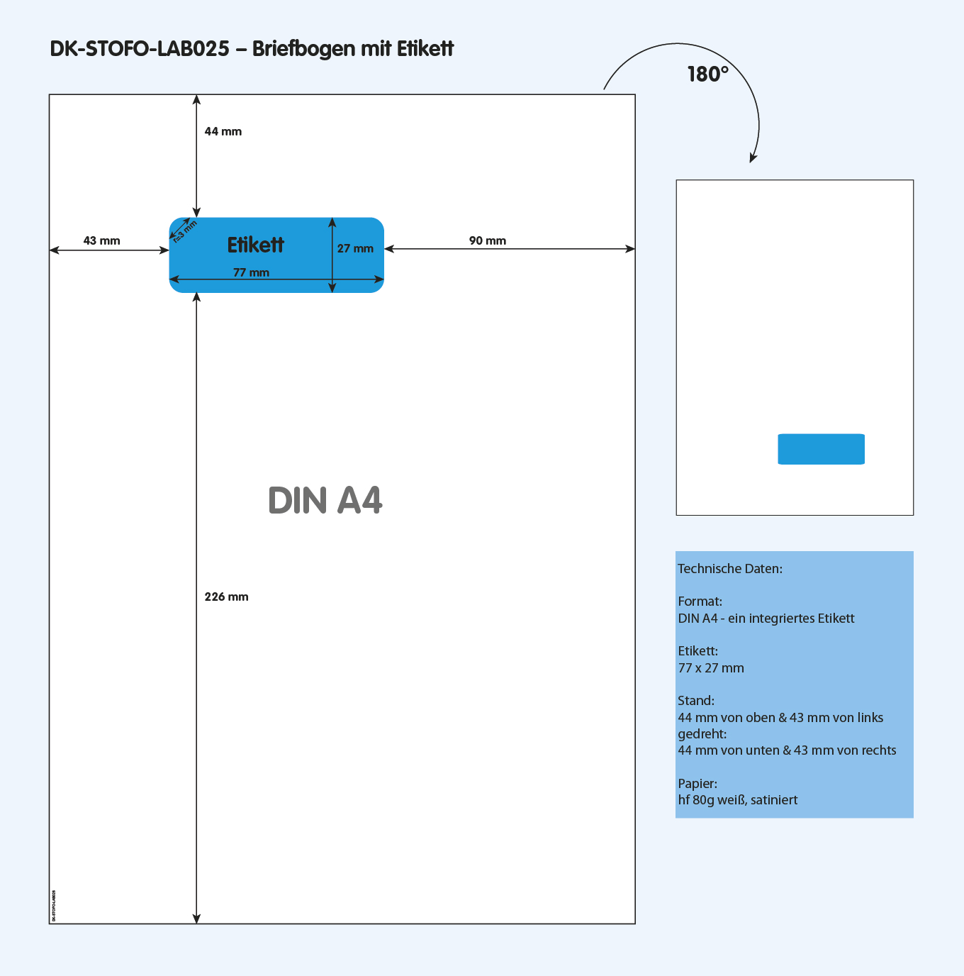 DK-STOFO-LAB025 - technische Zeichnung