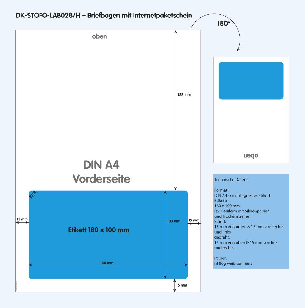 DK-STOFO-LAB028/H - technische Zeichnung