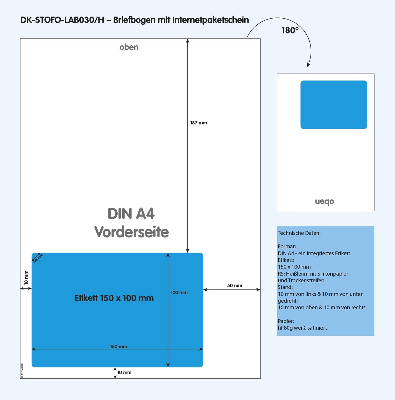 DK-STOFO-LAB030/H - technische Zeichnung