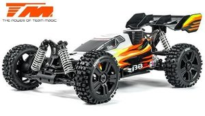 Auto - 1/8 Nitro - 4WD Buggy - RTR - Seilzugstarter - Team Magic B8JR
