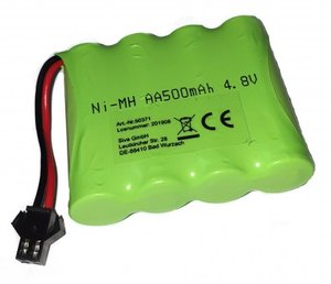Akku 4,8V 500mAh Military Car 1:12