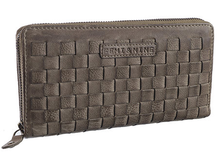 Femi & Nine weave, Ladywallet taupe (Vollflechtung)