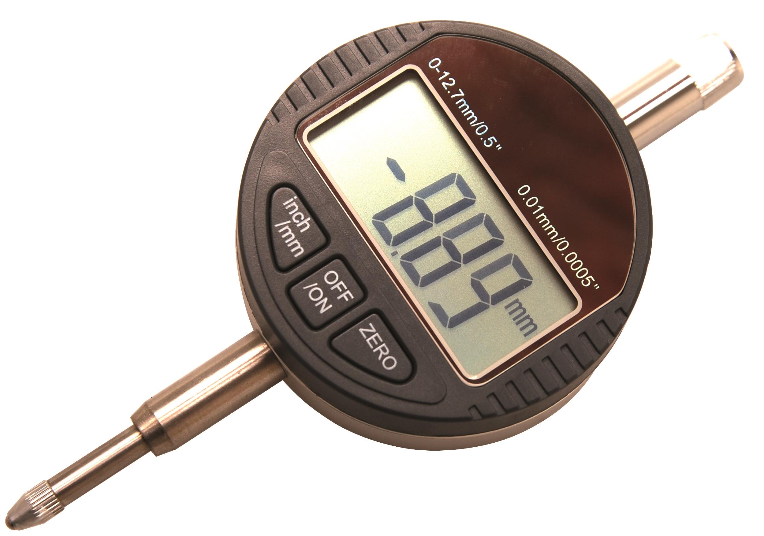 BGS Digital-Messuhr 0-12,7 mm Rundskala OT-Finder Rundlaufmessung Messinstrument