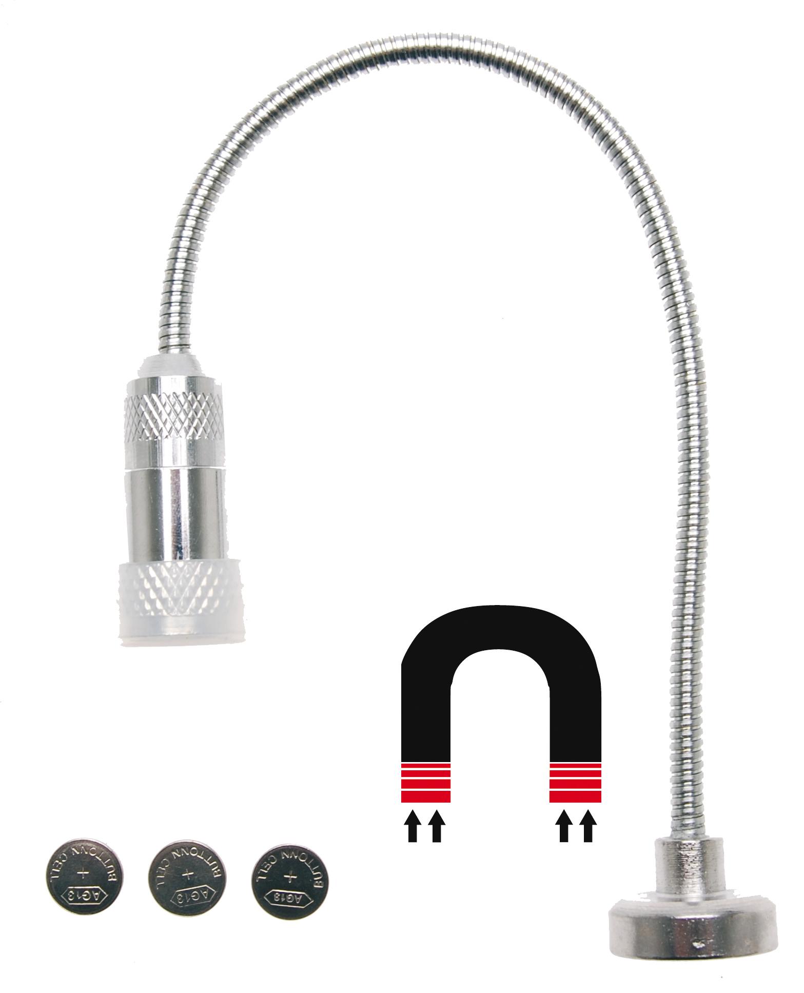 LED Arbeitsleuchte Steh Leuchte Flexibel Magnetfuss 260mm Schwanenhals Lampe